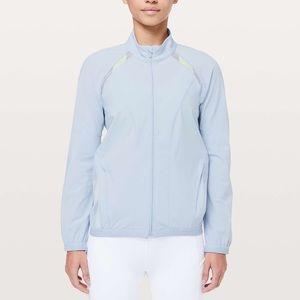 lululemon Breeze In Jacket Blue Silk